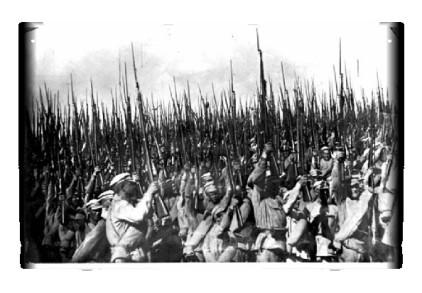 Instantánea del Ejército Rojo de Trabajadores y Campesinos tomada en 1920.