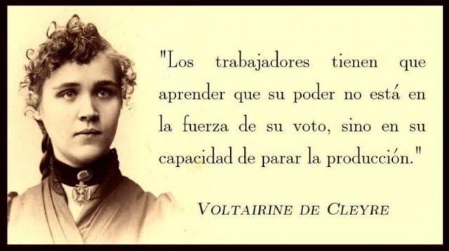 VOLTAIRINE DE CLEYRE Voto y producción